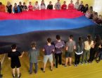 Большой флаг ДНР развернули в стенах медуниверситета